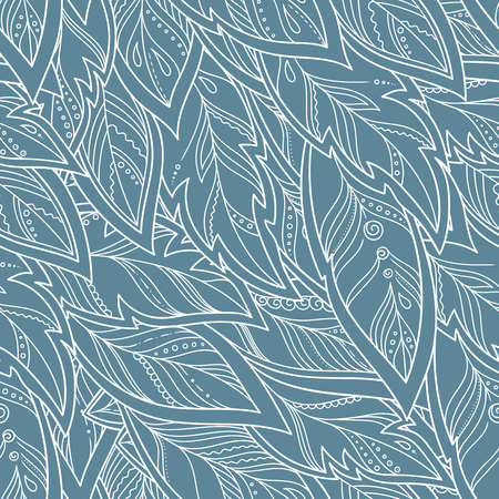 pattern: Vector Feather background, retro pattern, ethnic doodle collection, tribal design.