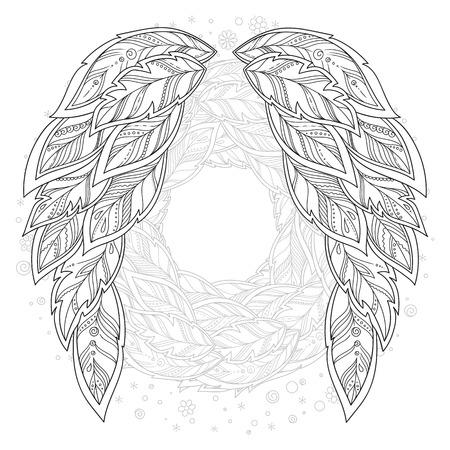 Dibujado A Mano Tótem Del Ratón Para Zentangled Antiestrés Página ...