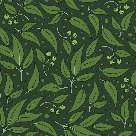 Naadloos groen bladpatroon. Eucalyptus verlaat achtergrond. Stockfoto - 79937787