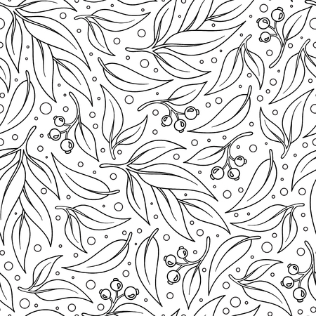 fission: Vector background with sketch botanical branches in vintage style texture