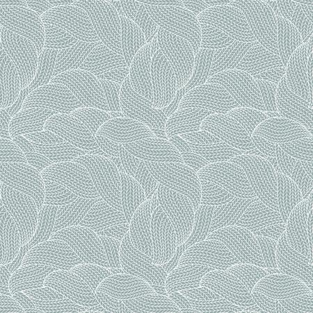 Seamless pattern of knitting braids, endless texture, stylized sweater fabric