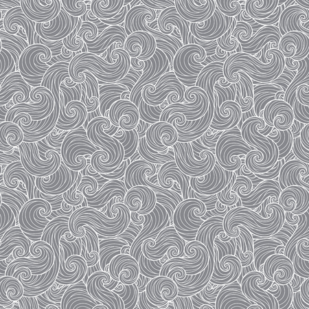 Seamless abstract hand-drawn waves pattern, wavy background. Seamless pattern can be used for wallpaper, pattern fills, web page background,surface textures. Gorgeous seamless background Illustration