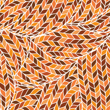 Seamless pattern of knitting braids