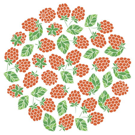 Natural fruits and berries round symbol with fresh  blackberry. Food and juice packaging or farm market design