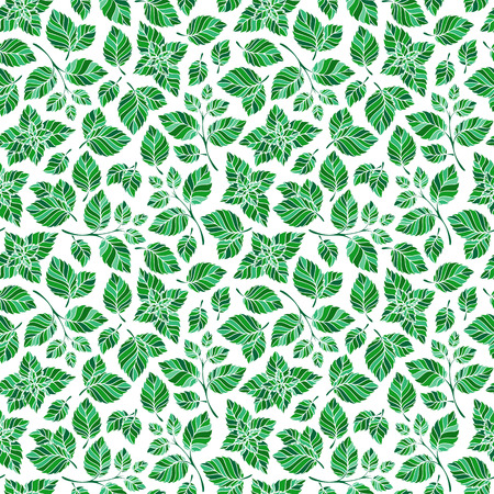 Hand drawn vector seamless pattern with mint leaves, peppermint, spicy herbs, kitchen texture, Doodle cooking ingredient for design package tea, wallpaper, cosmetics, textile, natural organic product