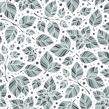 medical drawing: Mint leaf pattern. Peppermint leaves sketch vector background for tea wrapping paper. Organic background with natural leaf illustration Illustration