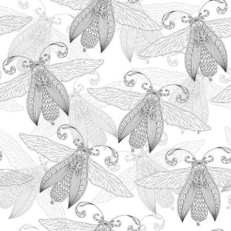 Patrones Sin Fisuras Con Mariposas. Libro De Colorear Para Niños ...