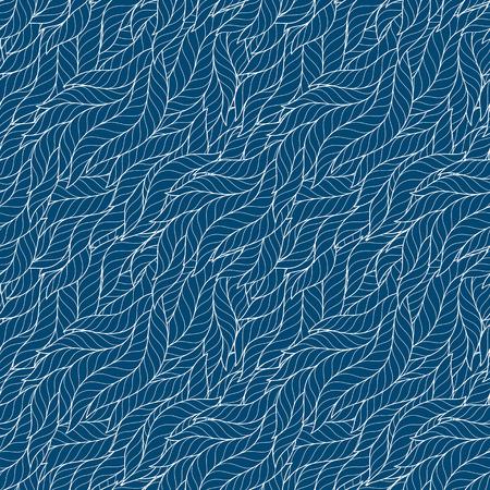 Decorative seamless border pattern. Vector illustration with abstract waves or dunes. Geometric ornament. Ilustração