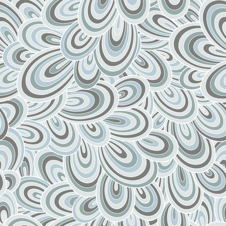 Seamless abstract hand-drawn waves pattern, wavy background. Seamless pattern can be used for wallpaper, pattern fills, web page background,surface textures. Gorgeous seamless background Ilustração