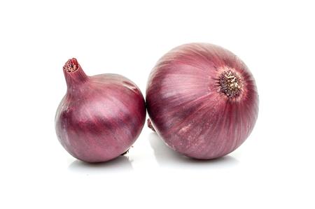 Blue salad onion on white background isolation