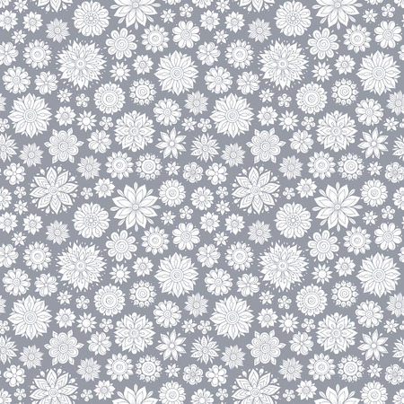 Seamless vector floral pattern, spring/summer backdrop. Hand drawn surface design with flowers in garden. Seamless texture can be used for wallpapers, pattern fills, surface textures.