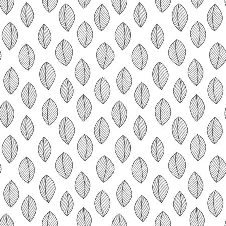 Doodle seamless pattern with ethnic leaves. Creative spring textile swatch or packaging design. Stock Illustratie