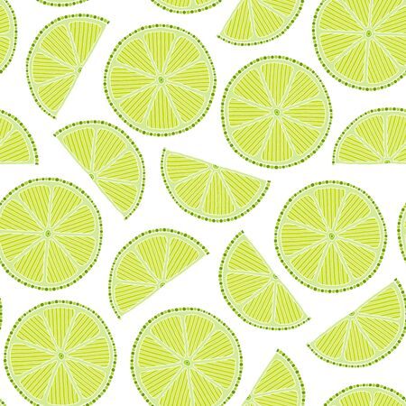 Seamless pattern with  limes. Perfect for wallpapers, pattern fills, web page backgrounds, surface textures, textile.