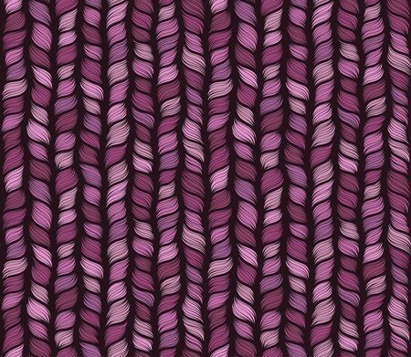 Pink knitted hand drawn seamless pattern. Pen freehand crankles line art. Irregular zigzag and vertical lines handdrawn texture. Pink fabric, textile, wrapping paper, wallpaper minimalistic design.