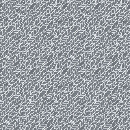 Gray bold vector seamless pattern with stylized sweater fabric. Texture for web, print, wallpaper, fall winter fashion, textile design, website background, holiday home decor, wedding invitation