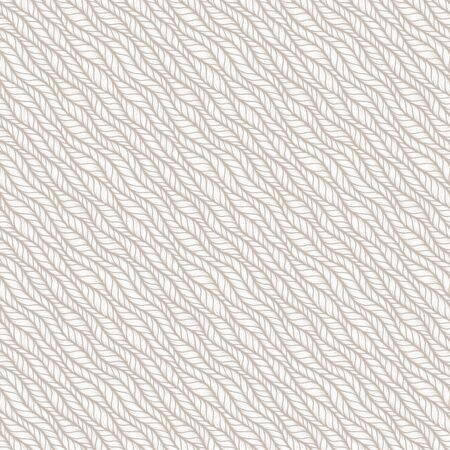 Beige seamless pattern of braids, endless texture, stylized sweater fabric. Texture for web, print, wallpaper, fall winter fashion, textile design, website background, holiday home decor Illustration