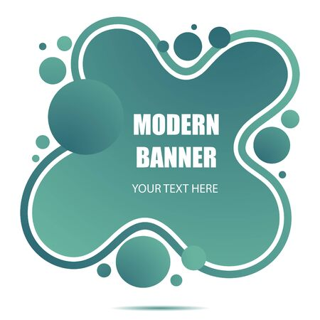 Gradient abstract banner with flowing liquid shapes.