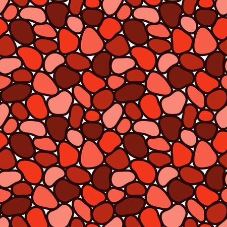 Hand drawn polka dot seamless pattern. Random geometric pebble wallpaper. Simple stones backdrop. Design for fabric, wrapping paper. Stock Illustratie
