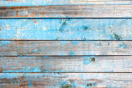 Old vintage Wooden texture of blue color