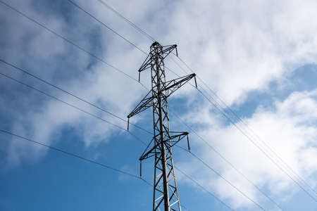 towers for power transmission lines high voltage.
