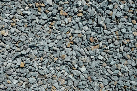 Road gravel. Gravel texture. Crushed Gravel background. Pile of Stones texture. Industrial coals.