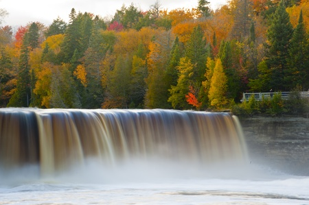 Tahquamenon falls in Fall Michigan Stock Photo - 9545713