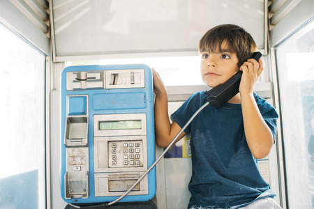 Child talking over the phone