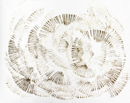 Traces of brushes on paper. Texture on white background. Tissue print on paper. Fabric pattern.