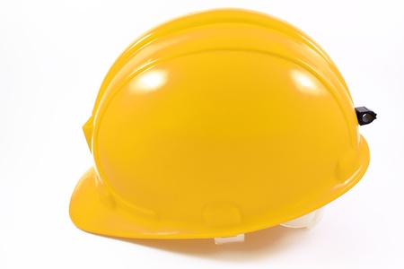 yellow helmet on a white background
