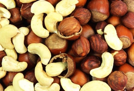 assortment of tasty nuts  Stock Photo