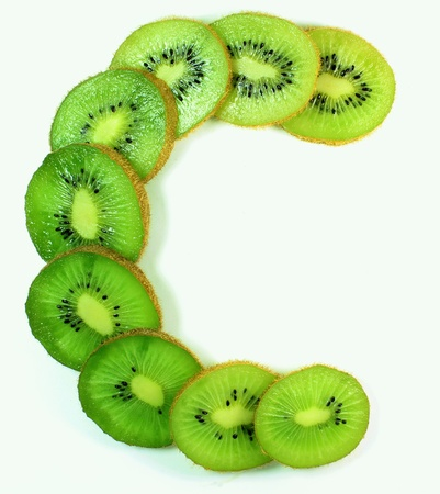 kiwi segments in the form of vitamin C