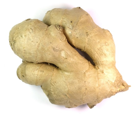 ginger isolated on white backgrou