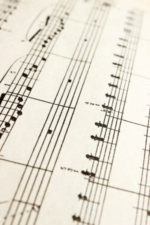 hymn: music notes Stock Photo