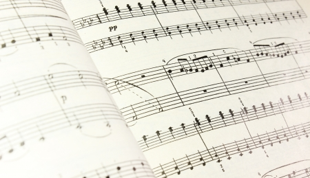 sheetmusic: music notes Stock Photo