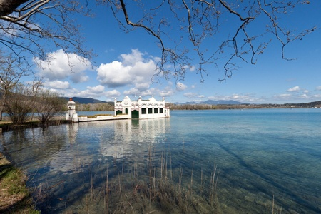 Lake Banyoles, Spain. Catalan natural lake in Gerona.