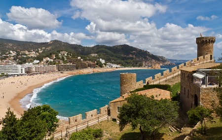 Tower Tossa de Mar, Spain, resorts typical Catalan photo