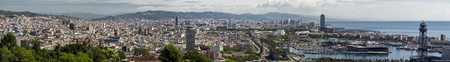 Great view of the city of Barcelona Spain, from Montjuic Stock Photo - 10009949
