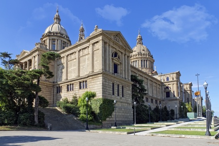 the national palace of montjuic, barcelona spain