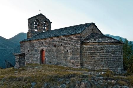 Romanesque church of Sant Quirc de Durro, Catalonia, Spain  photo