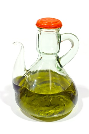 oilcan: classic oil virgin olive oil, prized in Mediterranean diet