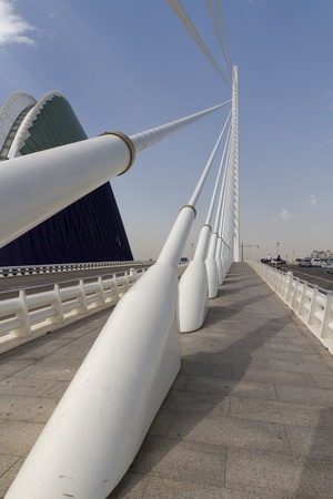 VALENCIA, SPAIN - AUGUST 22: Hemisferic in The City of Arts and Sciences on August 22, 2011 in Valencia, Spain. This futuristic building was designed by the famous architect Santiago Calatrava.