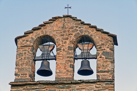 romanesque: Romanesque bell tower, belonging to the hermitage of Durres, Spain