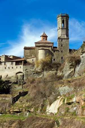 landscape at Rupit ( historical town at Catalonia )  photo
