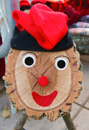 a Tio de Nadal, a typical Christmas character of Catalonia, Spain Stock Photo