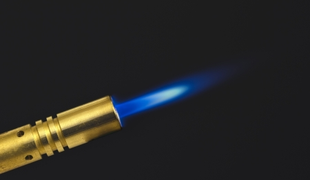 MAPP gas torch this a shot in the dark to capture blue flame photo