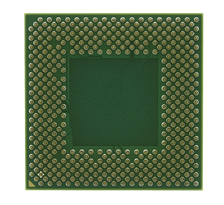intel: CPU processor isolated on a white background  Stock Photo