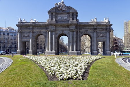 Puerta de Alcala  Alcala gate in Madrid, Spain  photo
