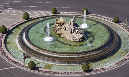 Cibeles Fountain in Madrid, Spain  One of the best known symbols of the city of Madrid  photo
