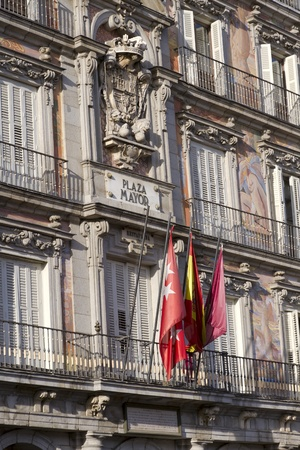 Principal building in Plaza Mayor, the most important square in Madrid photo