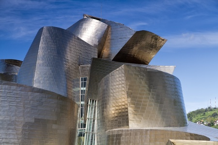 BILBAO, SPAIN - MAY 01  Exterior of The Guggenheim Museum on May 01, 2012 in Bilbao, Spain  The Guggenheim is a museum of modern and contemporary art designed by Canadian-American architect Frank Gehry  Stock Photo - 13537899